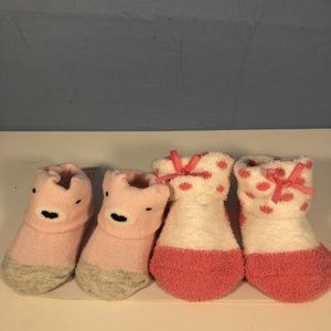 carters just one year Newborn Sock Girl Gift Set
